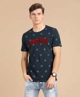 2c5f2f018ff Converse Solid Men s Polo Neck Black T-Shirt - Buy Black Converse ...