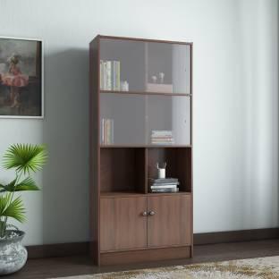 Hometown Lara Crony Engineered Wood Semi Open Book Shelf Finish Color   Wenge, Knock Down