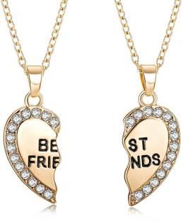 Astrology paradise panchmukhi hanuman kavach brass pendant price in peora best friends necklace for 2 bff broken heart necklace gold rhinestone bestfriends brass aloadofball Images