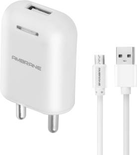 Ambrane AWC-38 With 1 m Sync & Charge USB Cable 2.1A Fast 10.5 W 2.1 A Mobile Charger with Detachable ...