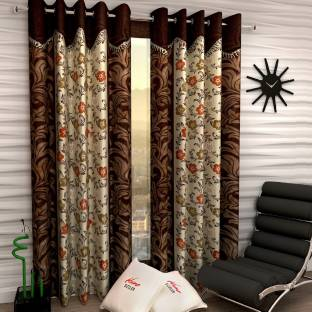 Home Sizzler 152 Cm 5 Ft Polyester Window Curtain Pack Of 2