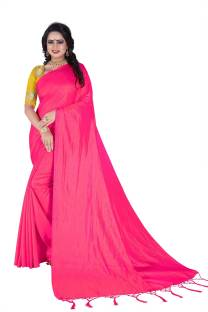 69e54f11cb Buy Craftsvilla Self Design Fashion Silk Blue Sarees Online @ Best ...