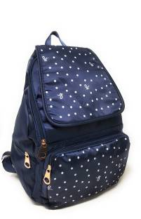 709fbf8af38 Shoppers Planet Women s Girls Blue Small Dot Printed College Picnic  Waterproof Backpack