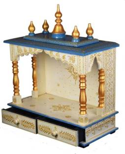 Maa Gayatri Design Solid Wood Home Temple Price In India Buy Maa