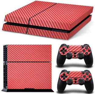 TCOS Tech Carbon Fiber Skin Sticker Cover For Console And Controller Gaming Accessory Kit
