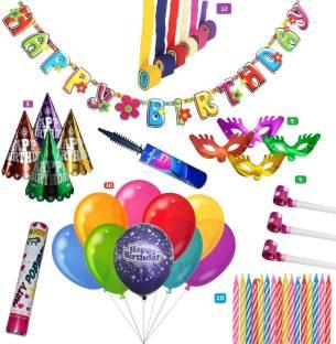 Factory 21 Set Of 12 Crepe Rolls 1 Happy Birthday Banner 5 Piece