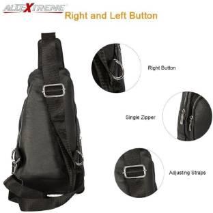 a02fba263c0a PU Leather Sling Bag Leather Chest Shoulder Backpack Water Resistant  Vintage Carry Cross Body Messenger Bag