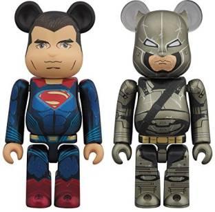 533ade18 Medicom Batman V Superman Dawn Of Justice Superman And Armored Batman 100%  Bearbrick 2-
