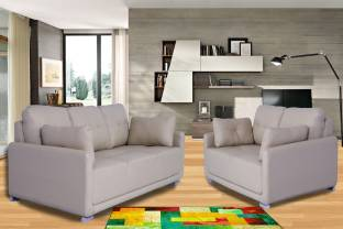 Muebles Casa Contemporary Modern Leatherette 3 2 Beige Sofa Set