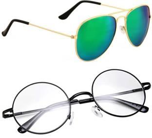 b166c6b95e9 Buy NuVew Round Sunglasses Clear For Men   Women Online   Best ...