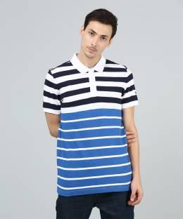 7f3364f26b2 Puma Striped Men's Polo Neck White, Blue, Red T-Shirt - Buy White ...