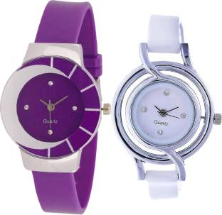 Neutron Treading Heart Purple And White Color Combo Watch G10 G50 For S