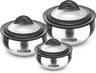 MILTON Clarion jr . Gift Set Pack of 3 Thermoware Casserole Set