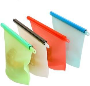 SYGA One Piece Silicon Food Storage Bags Refrigerator   Dishwasher Safe Bags  Random Color  Silicone Storage Pouch