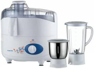 BAJAJ fresh ship fresh sip 450 W Juicer Mixer Grinder (2 Jars, White)
