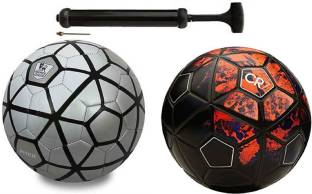 85de7d2c2f Nice Silver Black + CFR-7 Black Football Combo With Durable Air Pump  Football Kit