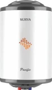 SURYA 15 L Storage Water Geyser (Pacific 15 L, White, Black)