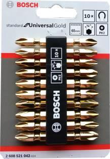 BOSCH GOLDEN STARBIT/SCREWDRIVER BIT PACK OF 10 Combination Screwdriver Set