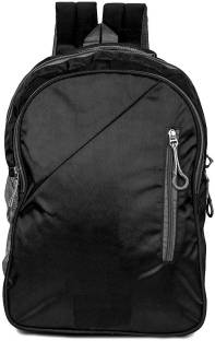 252705b86 HD Polyester School Bag with Rain Cover 30L(Black, ) 30 L Backpack