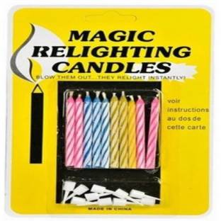 Gifting Square Happy Birthday Magic Relighting Candles Full Cake Decoration Pack Of 40 Candle