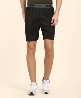 aad4d734b1 Black Panther Solid Men's Black Sports Shorts - Buy Black Black ...