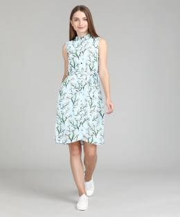 74be5b3bcd87 Revoure Women s Gathered Light Blue Dress - Buy Tiffany Blue Revoure ...