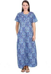2516564adc5 Kriti Comfort Women's Nighty - Buy Blue Kriti Comfort Women's Nighty ...