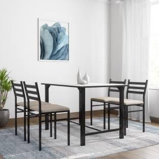 FurnitureKraft Metal 4 Seater Dining Set