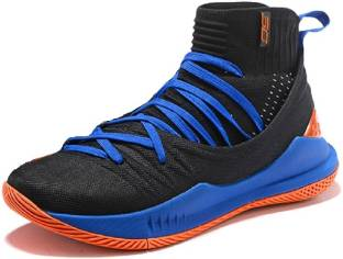 save off 060b4 d9a0c the under armour UA Curry 5 Black Blue Basketball Shoes For Men