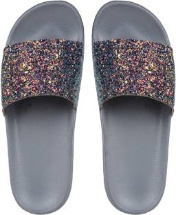 09a8a0c1e12e Salvatos Silver Folding Flip Flops - Buy Grey Color Salvatos Silver ...