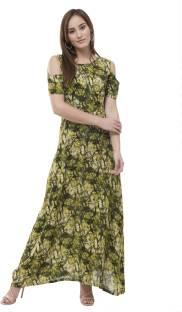 16772c8f41e sarvagny clothing Women Maxi Green Dress - Buy Pista sarvagny ...