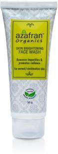 Azafran Organics Skin Brightening  Face Wash