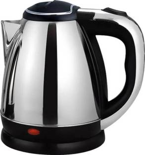 KITCHEN INDIA ™ 1.8 L Stainless Steel Quick Heating Tea - Water Boiler Heater Pot Electric Kettle (1.8 L, Silver) Electric Kettle