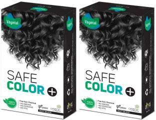 VEGETAL Safe Colour , Soft Black ( 100 gm × 2 )