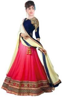 68cfcddc19 Parvati Fabrics Self Design Lehenga Choli - Buy Off White,Rani ...