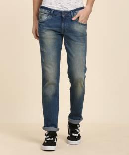 6d8b1f33 Wrangler Slim Men's Blue Jeans - Buy Dirty Tinted Wrangler Slim ...