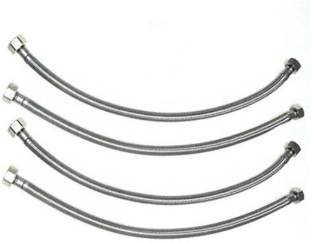 AO Smith Heavy Stainless Steel Connection Pipe, 24 Inch (600mm) - Pack of 4 Hose Connector