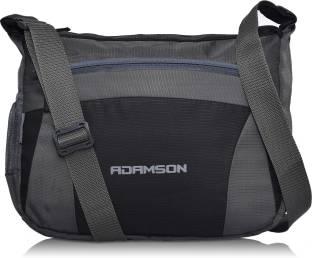 Adamson Men   Women Casual Grey Polyester Sling Bag 52eda0c4b09a0