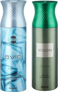aecece536 Ajmal Avid   Vision Deodorants for Men pack of 2 Deodorant Spray - For Men