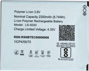 LYF Mobile Battery For Lyf Water 10 LS-5020 Price in India