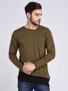 d8ced5eb73f7 Bewakoof Solid Men's Round Neck Green T-Shirt - Buy Green Bewakoof ...
