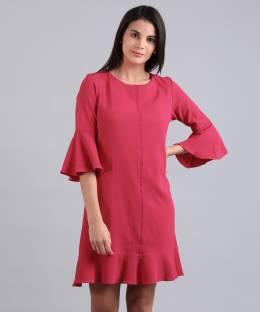 2f8fab3163c4 Allen Solly Women s A-line Red Dress