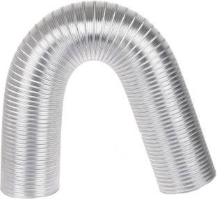 AMPEREUS Chimneypipe00 Ampereus 6 Inch Chimney Exhaust Pipe (Flexible Aluminium/Heavy Duty Duct Pipe Upto 10 Feet) Hose Pipe
