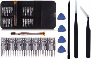PagKis 25 in 1 Mobile, Laptop Repair Tools with 2 ESD Safe Tweezers, 1 ESD Safe Spudger and 4 Triangul...