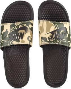 b0385c5b0d2ab Nike BENASSI SWOOSH Slides - Buy BLACK/MENTA-CARBON GREEN Color Nike ...
