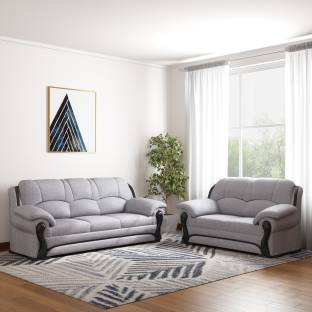 b3bb495fe4b Vintage Ivoria Fabric 3 + 2 WALNUT Sofa Set Price in India - Buy ...