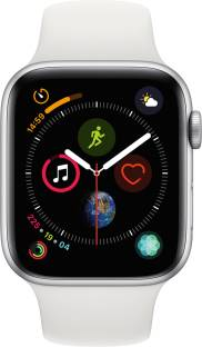 APPLE Watch Series 4 GPS 44 mm Silver Aluminium Case with White Sport Band