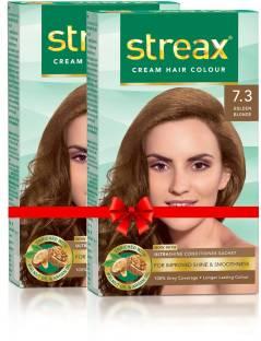Streax Cream Hair Colour-Pack of 2 , Golden Blonde No-7.3