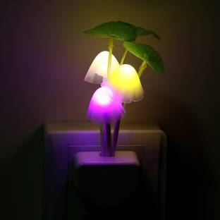 salebucks Mushroom led lamp with colour changing sensor-energy efficient for home decoration,kids bedroom lamp and more(multicolour) Night Lamp