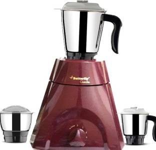 Butterfly Grand XL Cherry Red 500 Mixer Grinder (3 Jars, Red)